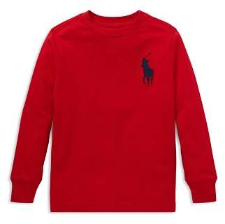 Ralph Lauren Boys' Big Pony Long-Sleeve Cotton Tee - Little Kid