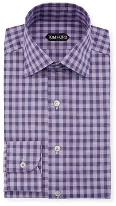 Tom Ford Men's Subtle Gingham Dress Shirt