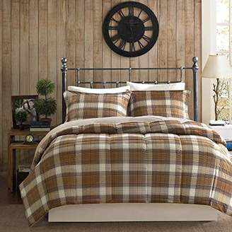Woolrich Lumberjack Twin Size Bed Comforter Set - Brown