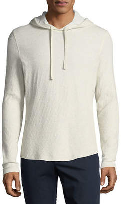Vince Men's Contrast Double-Knit Pullover Hoodie