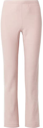 Rag & Bone Racer Striped Cotton-terry Track Pants - Pastel pink