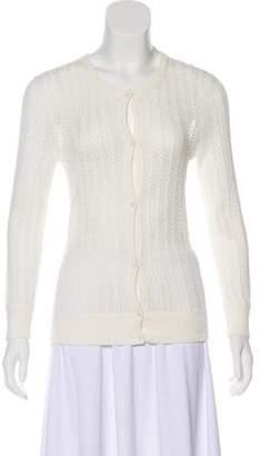 Trina Turk Herringbone Knitted Cardigan