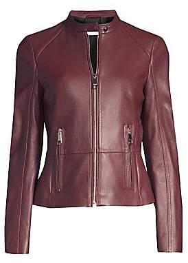 BOSS Women's Slim-Fit Leather Jacket - Size 0
