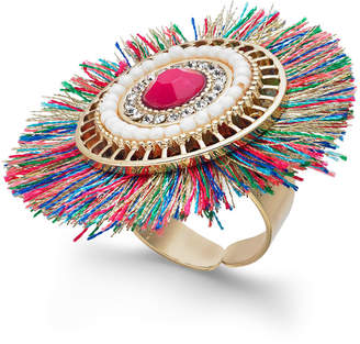 Thalia Sodi Gold-Tone Crystal & Stone Fan Ring