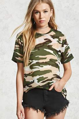 Forever 21 Camo Print Top