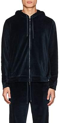 Derek Rose Men's Nico Cotton-Blend Velour Hoodie