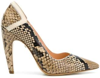 Just Cavalli snakeskin effect pumps