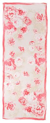 Giorgio Armani Floral Brushstroke Silk Stole, Fuchsia