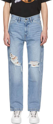 Off-White Blue Levis Made and Crafted Edition Carpenter Jeans