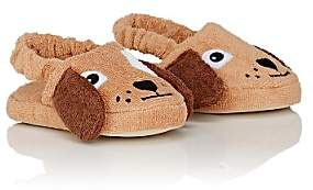 Yikes Twins Dog Cotton Terry Slippers-Brown
