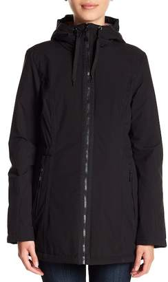 Laundry by Shelli Segal Stretch Hooded Trench Coat