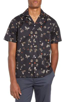 Saturdays NYC Canty Lacquer Butterfly Camp Shirt