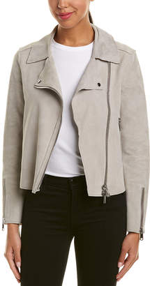 Reiss Raye Cropped Suede Jacket