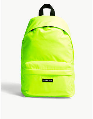 Balenciaga Explorer neon nylon backpack