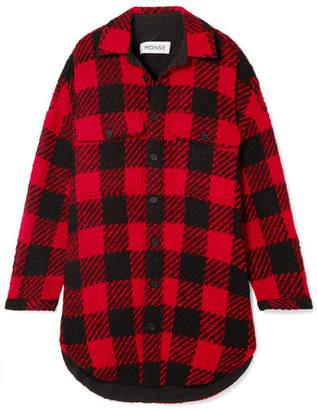 Monse Oversized Checked Wool-bouclé Coat