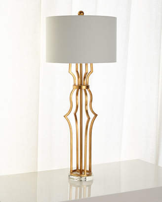 Aged Gold Metal Erin Buffet Lamp