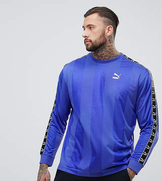 Puma Long Sleeve Tape Soccer Top In Purple Exclusive To ASOS