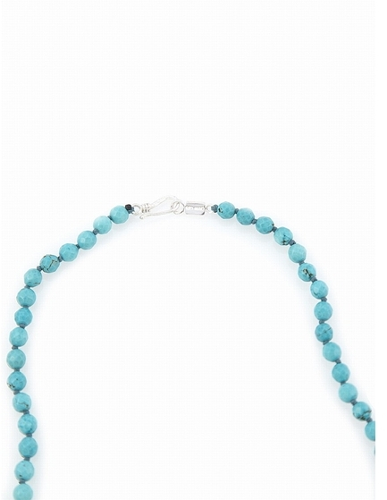 Chan Luu Turquoise Tassel And Skull Necklace