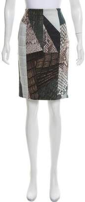 Yigal Azrouel Printed Neoprene Skirt