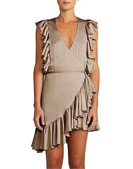 Shona Joy Zephyr Ruffle Wrap Mini Dress