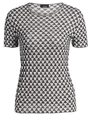 Akris Women's Silk Knit Jacquard Trapezoid Tee