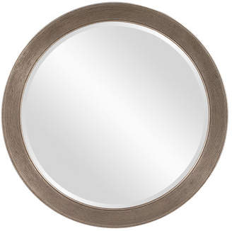 Co Darby Home Round Antique Silver Leaf Mirror
