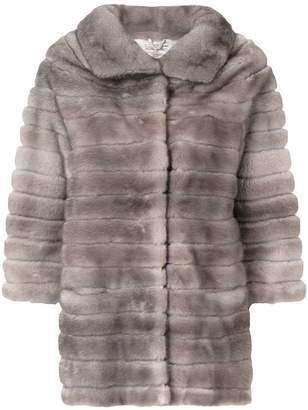 Adam Jones oversized fur coat