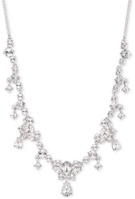 "Givenchy Silver-Tone Multi-Crystal 19"" Statement Necklace"