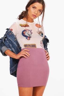 boohoo Elouise Basic Jersey Micro Mini Skirt