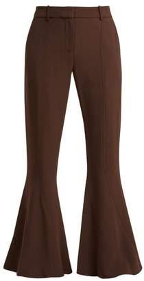 Sies Marjan Ramsey Cady Flared Trousers - Womens - Dark Brown