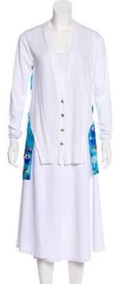 Just Cavalli Long Sleeve Silk Cardigan