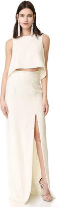 Black Halo Kacie 2 Piece Maxi Dress $375 thestylecure.com