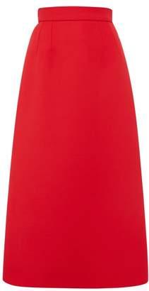 Dolce & Gabbana Wool Midi Skirt - Womens - Red