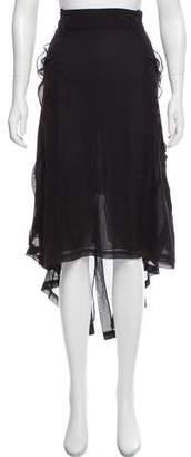 John Galliano Silk Midi Skirt