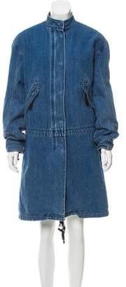 Helmut Lang Faux Fur-Lined Coat