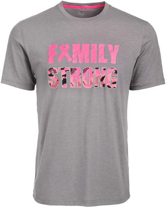 Id Ideology Men's Breast Cancer Awareness Family Strong T-Shirt