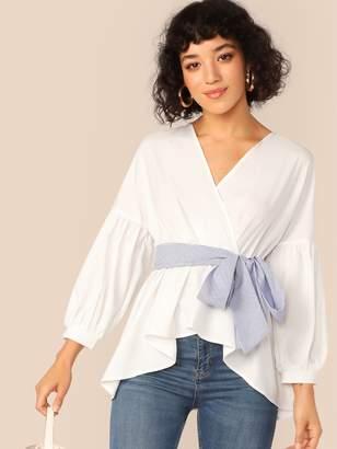 411984d5ba Belts Wrap Top - ShopStyle