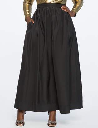 Taffeta Ball Gown Maxi Skirt