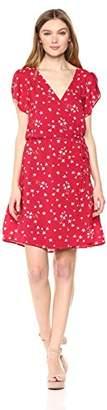 Velvet by Graham & Spencer Women's Amaury Floral Shortsleeve wrap Dress