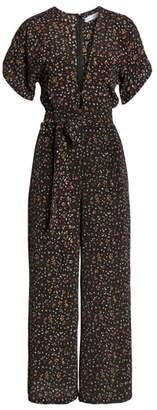 Faithfull The Brand Alena Ditsy Floral Print Jumpsuit