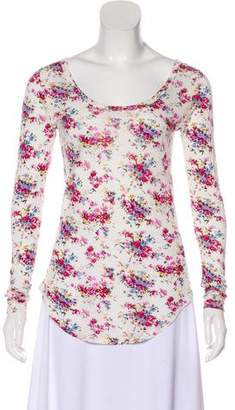 Torn By Ronny Kobo Long Sleeve Floral Print Top