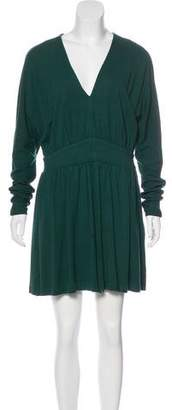 Halston Long Sleeve Knit Dress