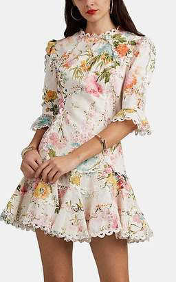 Zimmermann Women's Primrose Floral Slub Linen-Cotton Minidress
