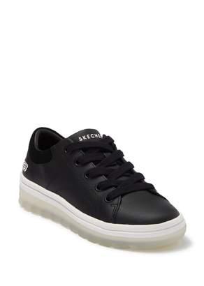 Skechers Street Cleats C-Thru-U Leather Platform Sneaker