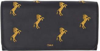 Chloé Black Signature Long Wallet