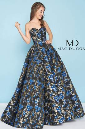 Mac Duggal Brocade Ball Gown