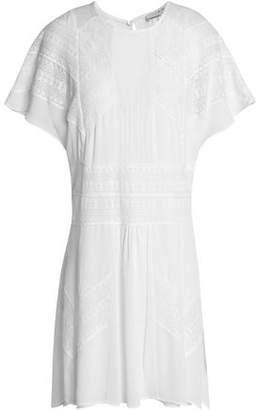 IRO Embroidered Crepe De Chine Mini Dress