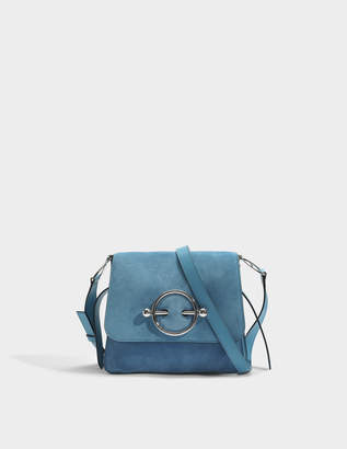 J.W.Anderson Disc Bag in Bluebird Suede and Calf Leather