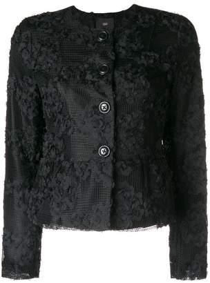 Steffen Schraut floral appliquée collarless jacket