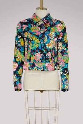 MSGM Printed flowers jacket